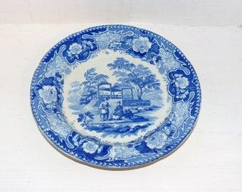 Davenport Antique Blue Plate - 1316