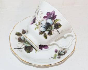 Royal Albert Apple Blossom Teacup and Saucer - 1758
