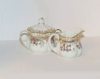 Antique Cream and Sugar Unmarked Set - 1791