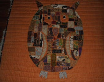 Owl Quilted Wall Hanging