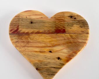 Wood heart decor, Heart wall hanging, Distressed, Reclaimed wood, Love, Rustic, Made to Order, valentines gift