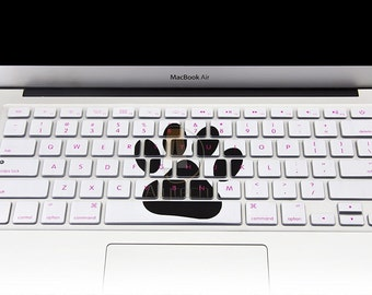"""Keyboard Cover Silicone Skin for MacBook Pro 13"""" 15"""" 17"""" (with or w/out Retina Display) iMac and MacBook Air 13"""" (Lovely Bear's-Paw)"""