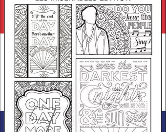 Nerd christmas card etsy for Les miserables coloring pages