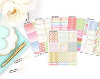 Pastel Christmas Collection-Erin Condren Horizontal Planner Stickers