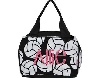 Volleyball Lunch tote, Monogrammed lunch bag