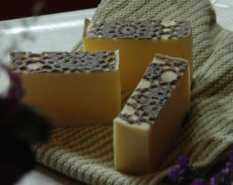 MARY BENNET Bar Soap | Jane Austen | Handmade Soap | Pride and Prejudice | Lace Soap | Orange Essential Oil