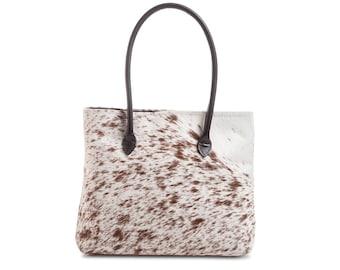 Cowhide Bag   Speckled Cowhide Bag   Cowhide Handbag   Made in England