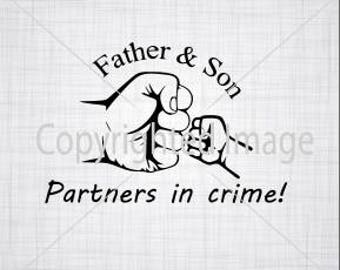 Fist Bump SVG; Father And Son SVG; Cricut Cut File; Silhouette Cut File; Cameo Cut File; Daddy Svg; Son Svg; Svg for shirts;