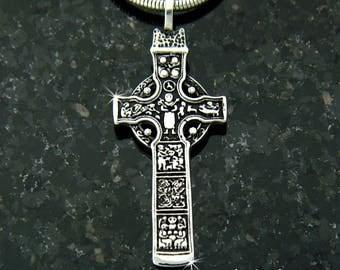 Durrow High Cross,  Celtic Cross, 316L stainless Steel Celtic Cross, Irish Cross, Christian cross, Gospels, Bible Cross, 8th century replica