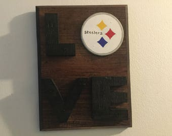 Pittsburgh Steetlers Love sign