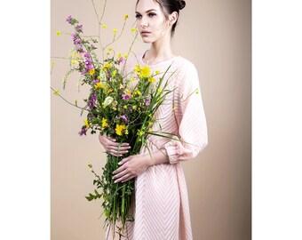 Pink dress, transparent dress, summer dress, loose fit dress, romantic dress, see through dress, vintage dress, girly dress, light dress.