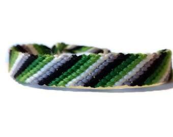 Aro Pride Stripe Friendship Bracelet - White Stripe