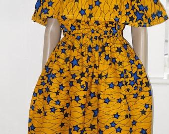 ankara dress, off the shoulder dress, african print dress, dress, gown