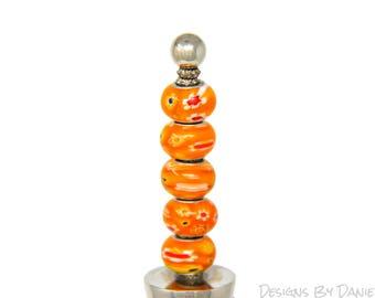 Orange Bottle Topper Orange Wine Stopper Funky Wine Stopper Vibrant Bottle Stop