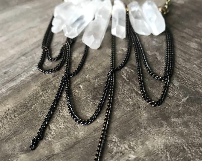 Crystal Quartz Statement Necklace