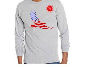 Eagle American Flag   SVG DFX Cut file  Cricut explore file 4th of July  svg, Patriotic svg, Flag svg, eagle svg,
