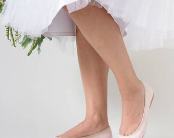 Pink ballet flats, Pink shoes, Bridal ballet flats, Wedding flats, Bridesmaid shoes, Bridesmaids flats, Wedding flat shoes