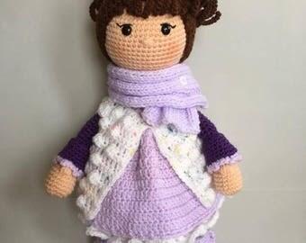 Doll MIA Amigurumi-Amigurumi doll-handmade puppets-crochet fabric doll-Christmas 2017 gift-doll collection-Doll Decor