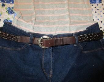 Plaited Leather Ladies Belt