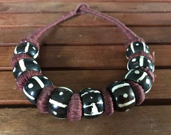 Mud Cloth Design Malian Necklace