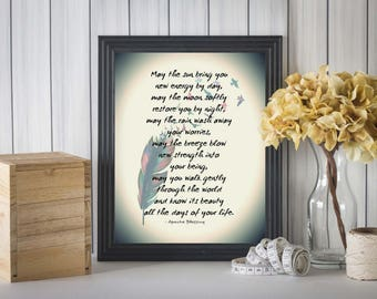 Apache Blessing, Native American Blessing, First Peoples Blessing, Native American Decor, Native American Print, Apache Indian Decor Print