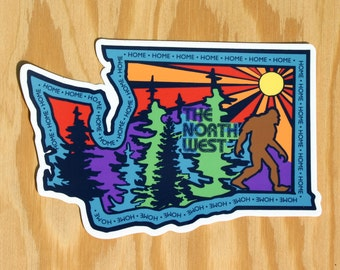 Washington Home Decal - Washington Sticker - Washington State - Northwest Sticker - pnw washington - WA Sticker - WA Car Decal - WA State