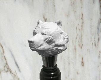 Bear Bottle Stopper, White