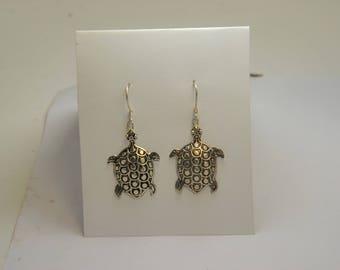 Sea Turtle Drop Earrings