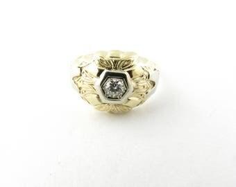 Vintage 14 Karat Yellow Gold and Diamond Ring Size 7.5 #3048