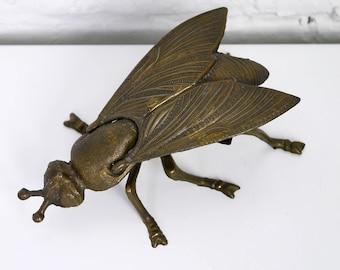 Brass Fly Ashtray Trinket Box