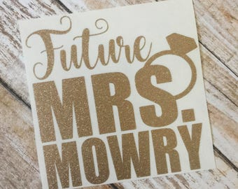Future Mrs Decal | Engaged Decal | YETI Decal | Monogram Decal | Car Decal | Yeti Decal | Vinyl Decal | Laptop Decal