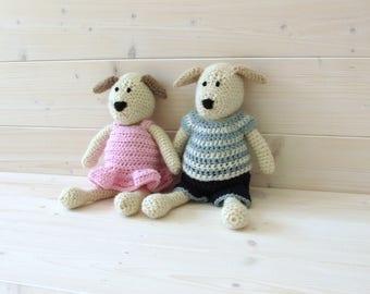 Crochet Dudley and Daphne Dog Written Pattern - Crochet Puppy Pattern