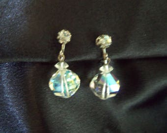 Crystal Dangle Earrings - Crystal Clip On Earrings