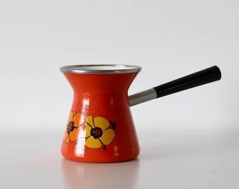 Vintage enamelled coffee pot