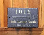 House Key Sign! Personalized House Number Plaque. Welcome To Our Home. Address Plaque. Wedding Gift. House Warming Gift. Outdoor Sign.