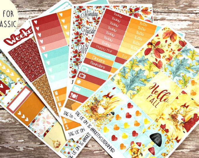 Fall Planner Stickers - Fits Happy Planner Classic - Hello Fall  Planner Stickers - Ala Carte Weekly Sticker Kit - Fall Stickers