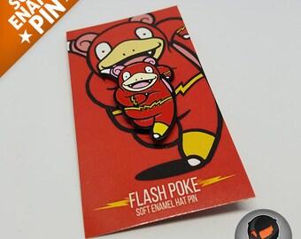 """Flash Poke """"Soft Enamel Pin"""""""