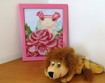 Pink Fairy Embroided with Beads