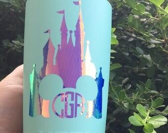 Holographic Disney Castle/ Holographic Monogram/ Iridescent / Disney