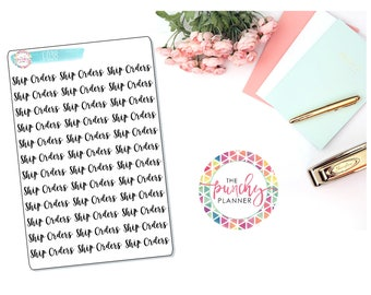 Shop Owner Planner Stickers // Ship Orders Planner Stickers