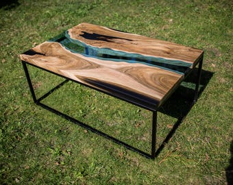 SOLD Live edge river walnut coffee table SOLD