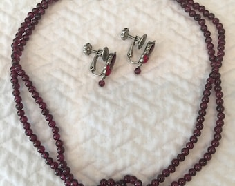 Vintage signed, Christian Dior necklace and earrings set