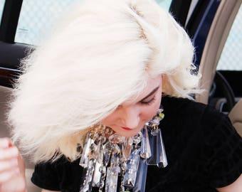 Queen of diamonds: Chandelier crystal goddess necklace