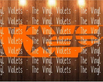 TN Tennessee Vols Volunteers State Outline svg