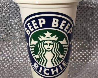 Stephen King It Beep Beep Richie Personalized & Customized Starbucks Cup