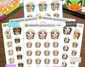 Summer Planner Kawaii Girls - Mermaid Hair Beach Study Work Reading - Planner Stickers (K0036)