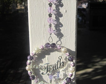Faith - Purple Sun Catcher- #0132