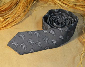 Game of Thrones Necktie - Stark Wolf Tie - Wedding Neckie