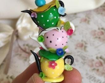 Alice in wonderland miniature teapot