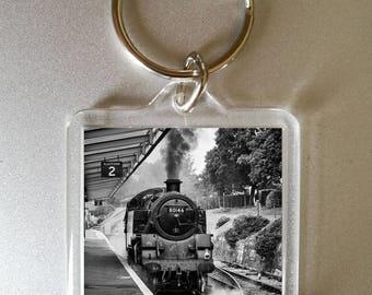 steam train keyring - photo gift - steam train - custom photo gift - secret santa - train keychain - locomotive keyring - fathers day gift
